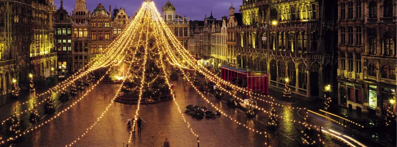 Grote Markt Brügge an Weihnachten