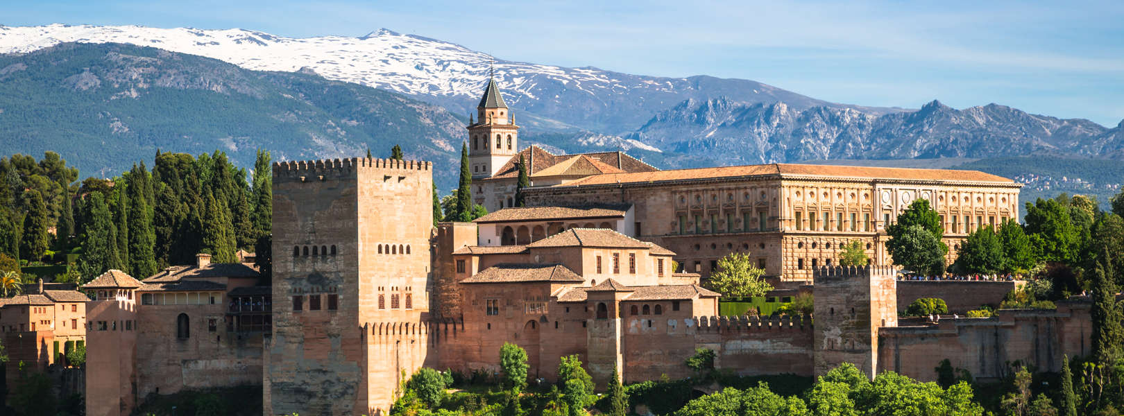 Die Befestigungsanlage Alhambra in Granada Spanien