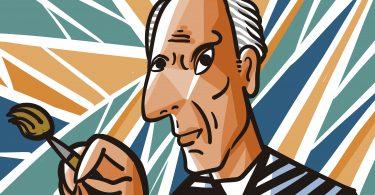 Picasso Bild im Museum in Malaga