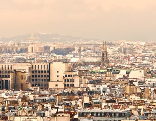 Sehenswürdigkeiten in Frankreich - Panaroma Blick auf Paris und den Eifelturm