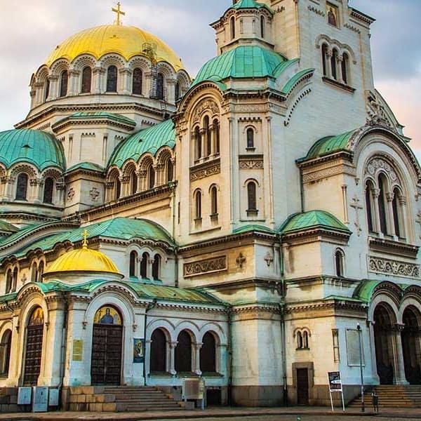 Blick auf die Alexander-Newski-Kathedrale in Bulgarien Sofia