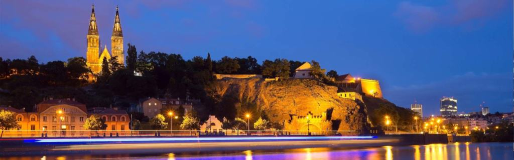Historischer Burgwall: Vysehrad in Prag