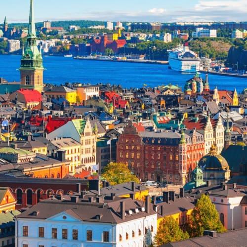 Schweden Sehenswürdigkeiten - Überlick von Stockholm der Hauptstadt Schweden