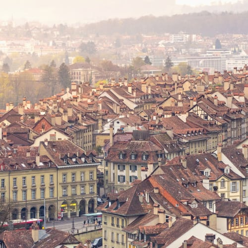 Stadt Bern in der Schweiz und das Alpenland