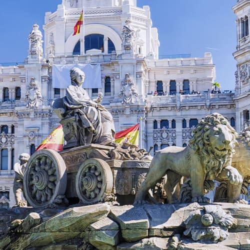 Plaza de Cibeles in der Hauptstadt Madrid