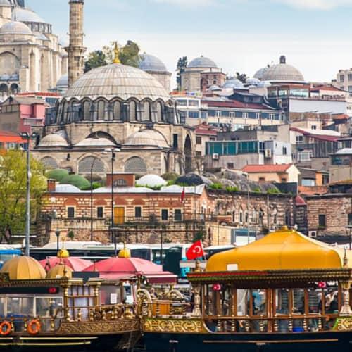 Blick auf Istanbul europäische Seite
