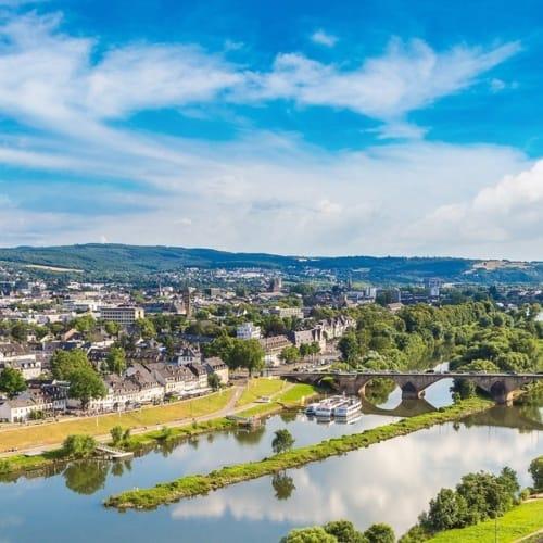 Blick auf die älteste Stadt Deutschlands Trier