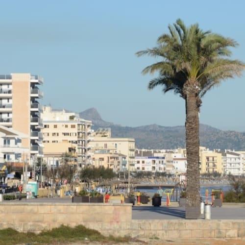 Blick auf den Strand von Ca'n Picafort Mallorca