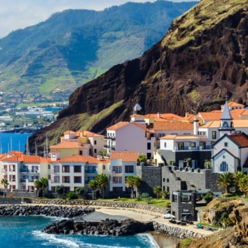 Blick auf Marina Da Quinta Grande auf Madeira