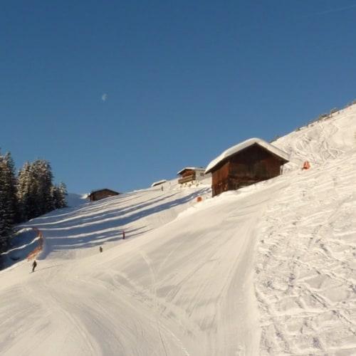 Blick auf das Skigebiet in Österreich - Skiurlaub in Kärnten