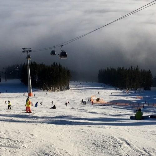 Skiurlaub in Tschechien - Blick auf die Piste