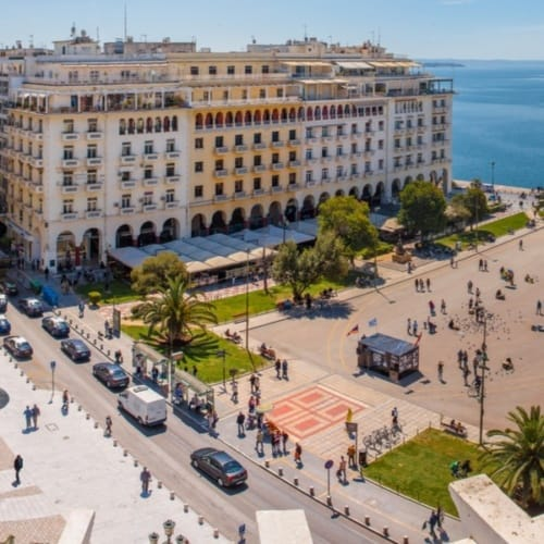 Blick auf die Stadt Thessaloniki