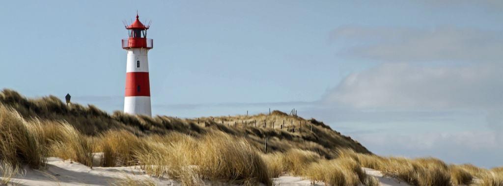 Blick auf den Leutturm auf Sylt