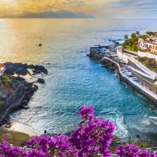 Blick auf die Küste von Teneriffa