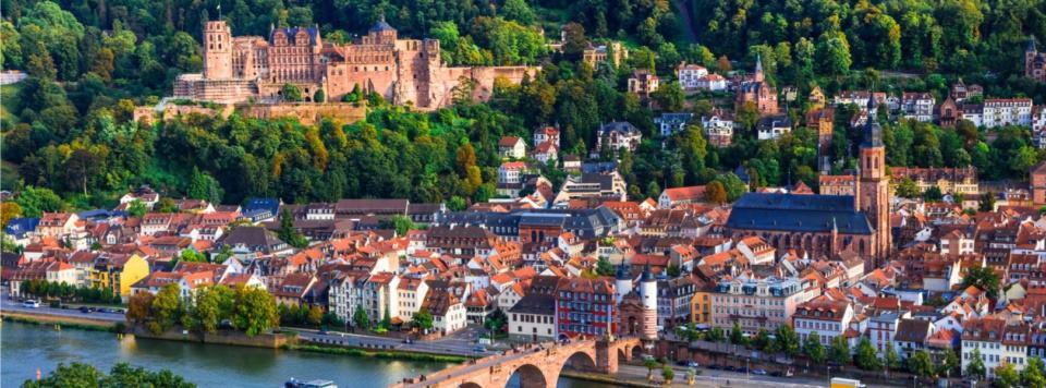 Blick auf die Altstadt beim Kurzurlaub Heidelberg