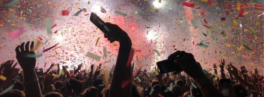 Blick auf das Balaton Sound Festival in Zaramdi am Balaton in Ungarn