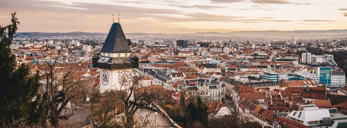Blick auf die Stadt Graz - Österreich Sehenswürdigkeiten
