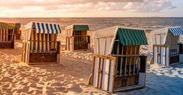 Ostseeinseln in Deutschland mit Blich auf den Strand