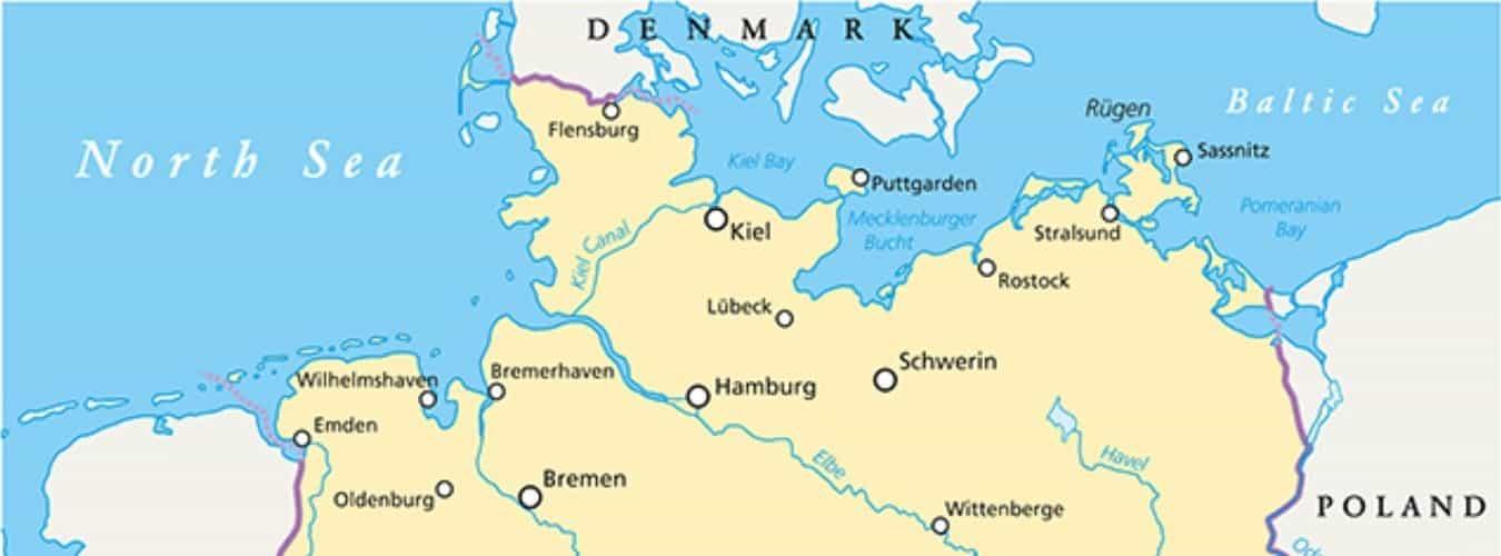 Ostsee Deutschland Karte.Ostsee Und Nordsee Sind In Ganz Beliebte Urlaubsziele In Europa