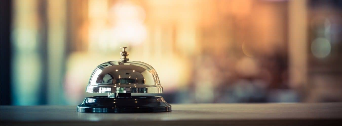 Reiserecht bei Reisemängeln - Serviceklingel im Hotel